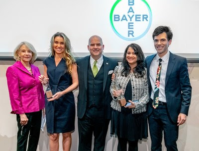 Bayer recognized two exceptional foreign journalists with scholarship awards at the recent Association of Foreign Correspondents in the USA (AFC-USA) Annual Awards Ceremony, held at the Roosevelt House Public Policy Institute of Hunter College in New York City.