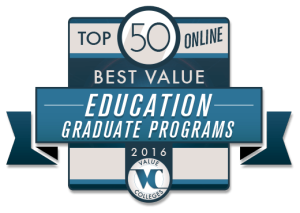 Value Colleges, an independent online guide to the best values in undergraduate and graduate college education, has released its ranking of the Top 50 Best Value Online Graduate Education Programs of 2016.