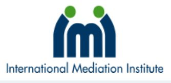 The editor of eCCO Magazine would like to draw readers' attention to a free Webinar: Enforcing mediated settlement NOW in a flat world -  International Mediation Institute (IMI) Certified Mediators David Weiss, Laura Kaster, Jennifer Brandt, and Robert Margulies will be delivering this session on Friday 8 May, at 3:00 pm Central European Time / 9:00 am New Jersey.