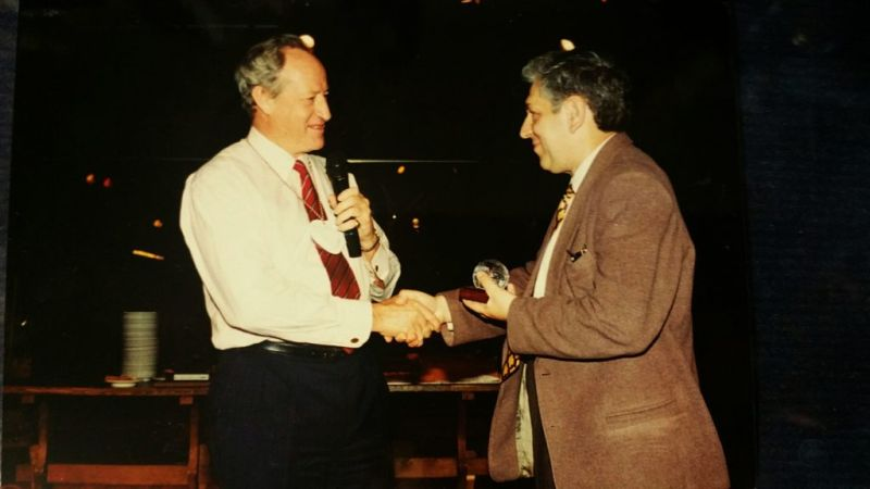 The museum's new object is a recognition, given by IPRA (International Public Relations Association) in 1996. The award was presented by Colin Church, President of IPRA, to Tamás Barát, Executive Vice President of the Hungarian PR Association in May 1996, at the IPRA Seminar in Budapest.