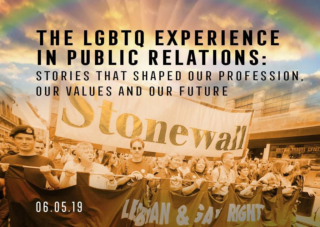 "The Public Relations Museum invited the PR practitioners, they wrote: ""Join us as we celebrate the LGBTQ PR community on the 50th anniversary of the Stonewall rebellion. For the very first time, hear the stories that shaped the careers of thousands and shaped the profession forever. MC, Del Galloway. Panelists: Sally Susman, Bob Witeck, Jim Joseph, Andrew McCaskill, Cathy Renna, Brenda Wrigley and Chiqui Cartagena."""