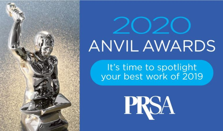 The editor of eCCO Magazine would like to draw readers' attention to the information of the PRSA. Anvil Award Entries Now Being Accepted. Now that 2019 is in the books, it's time to take a fresh look at all of the year's outcomes and accomplishments and choose which ones are promising candidates for an Anvil Award. The Anvils, which symbolize the forging of public opinion, honor outstanding public relations programs and tactics.