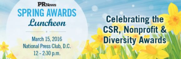 PR News is thrilled to announce the finalists of its annual CSR and Nonprofit PR Awards, as well as the inaugural class of honorees for the Diversity in PR Awards. The finalists and honorees of these industry-known programs will be saluted at a Spring Awards Luncheon on March 15, 2016 from 12 to 2:30 p.m. at The National Press Club in Washington, D.C.
