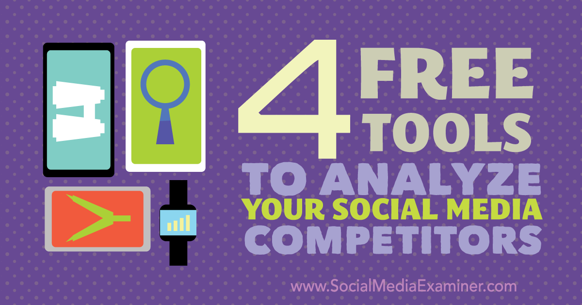 Do you want to improve your social media marketing? Have you looked at how your competitors are using social? You can find in the Social Media Examiner 4 free tools tools to help you determine what's working for you and your competitors, what isn't working and why.